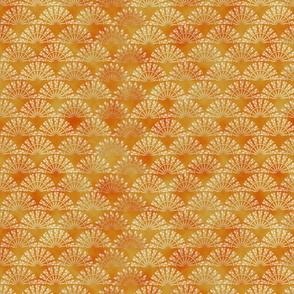 Yellow mosaic watercolor pattern