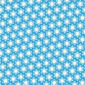 Mini Kawaii Winter Snowflakes (Blue Sky)