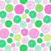 Flower power - pink and green