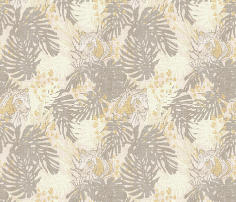 TIGER LINEN fabric by holli_zollinger on Spoonflower - custom fabric