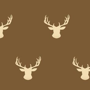 Cream Deer stag on Tan