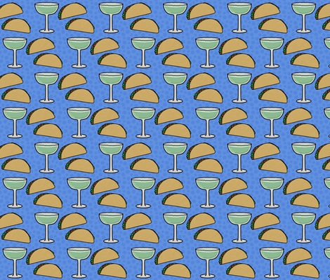 Taco Tuesday Happy Hour fabric by inklaura on Spoonflower - custom fabric