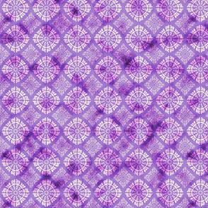 purple watercolored mosaic