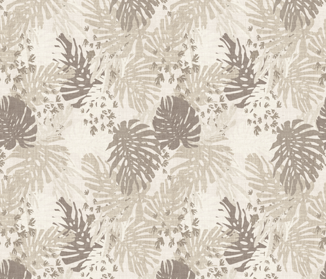 JUNGLE LINEN BEIGE fabric by holli_zollinger on Spoonflower - custom fabric