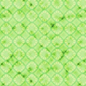 green watercolor mosaic