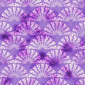 Purple watercolor mosaic pattern