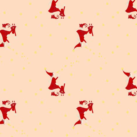 Snow Girls Pink fabric by twelvelittletales on Spoonflower - custom fabric