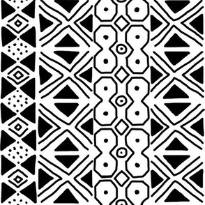 Black on White Mudcloth Inspired 12