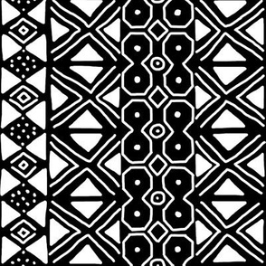 White on Black Mudcloth Inspired 12