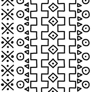 Black on White Mudcloth Inspired 13
