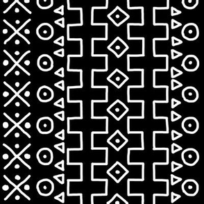 White on Black Mudcloth Inspired 13
