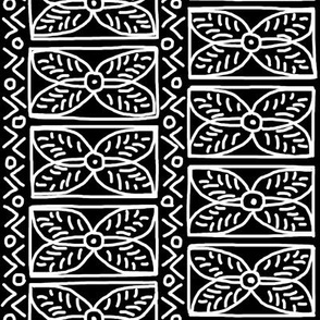 White on Black Mudcloth Inspired 14