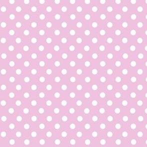 Pink and white polkadots