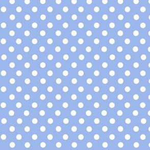 Lilac and white polkadots