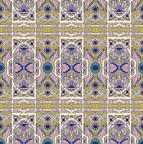 Swoopy Victorian Flower Trip fabric by edsel2084 on Spoonflower - custom fabric