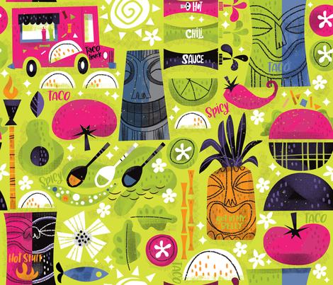 Tiki Tiki Taco  fabric by cynthiafrenette on Spoonflower - custom fabric