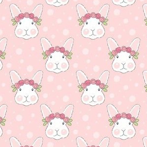realistic bunny faces-with-rosebuds