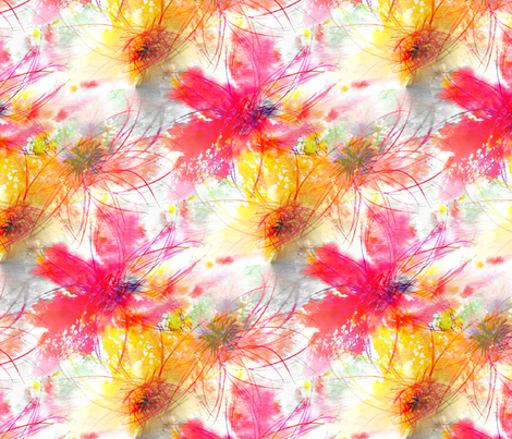 Wild Flowers - Extra Large fabric by atlas_&_tootsie on Spoonflower - custom fabric