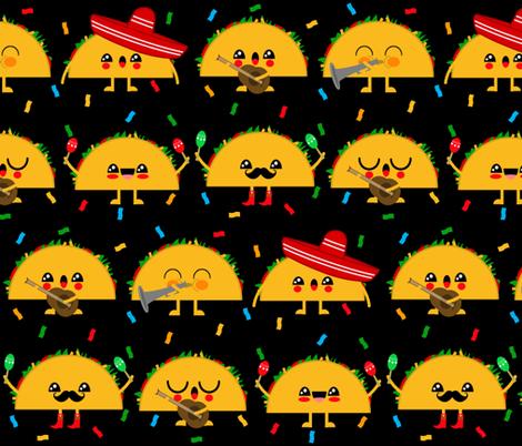 Mariachi Taco Band fabric by shortcake_studio on Spoonflower - custom fabric