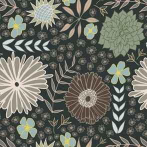 1960's Floral in Modern Colors
