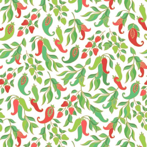 Chili Peppers  fabric by dariara on Spoonflower - custom fabric