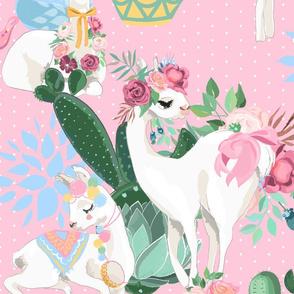 llama-pink