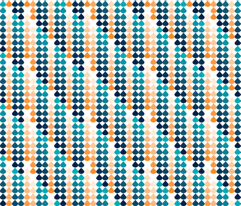 Raindrops Ombre Cresta 1 fabric by alchemiedesign on Spoonflower - custom fabric