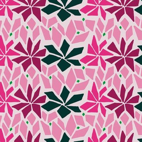 Abstract floral design in pink