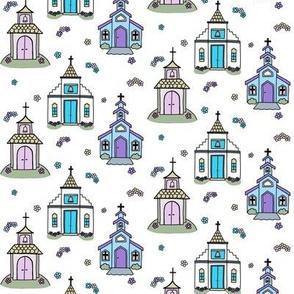 Springtime Chapels (white)