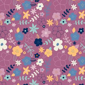 Fun Floral - purple