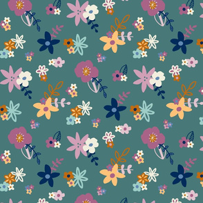 Fun Floral - Green