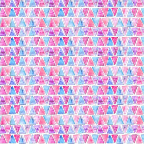 Candy Floss Watercolor Triangles - Small