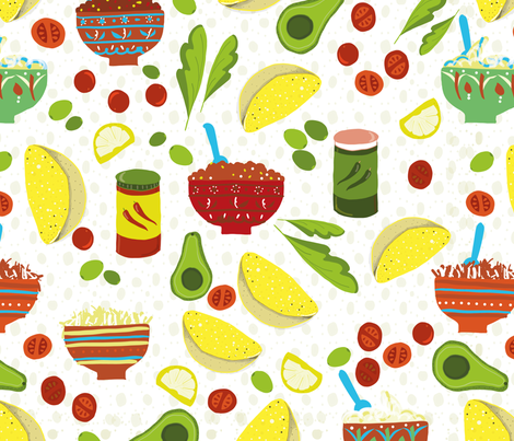 TacoTable DorineVinkyDesign fabric by dorine_vinky_design on Spoonflower - custom fabric