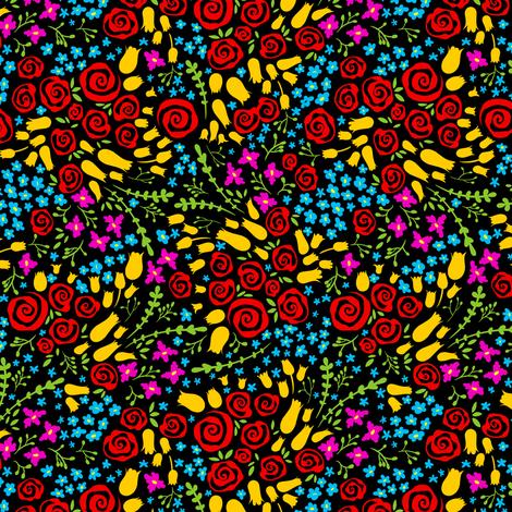 Small Simple Floral Ditsy 1 fabric by jadegordon on Spoonflower - custom fabric