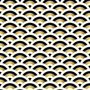 art deco scales - golden beige