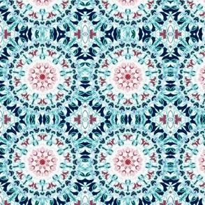 Symmetrical Blush & Blue Mandala - Small