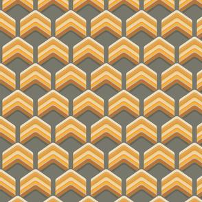 Art Deco Chevron Orange