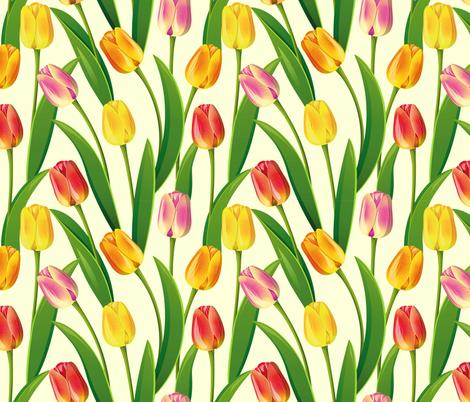 tulips fabric by elenashow on Spoonflower - custom fabric