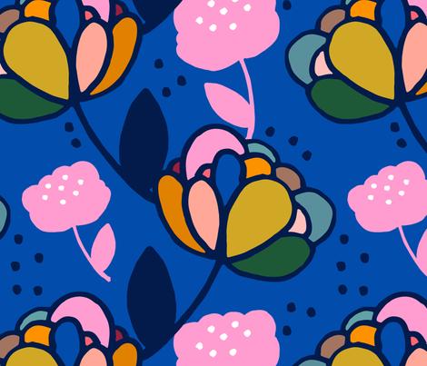 Peonies - Bright fabric by fossdesign_uk on Spoonflower - custom fabric