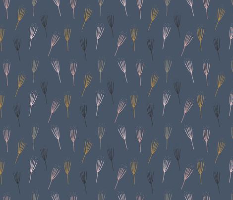Dandelion Clocks fabric by fossdesign_uk on Spoonflower - custom fabric