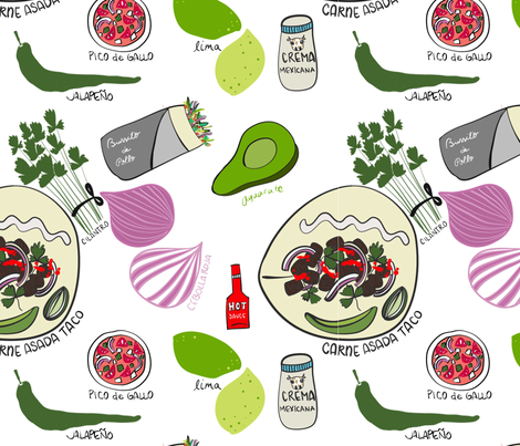 Authentic Tacos fabric by jenniejoyce on Spoonflower - custom fabric