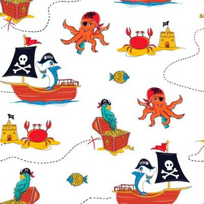 Boys Pirate Print