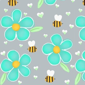 Whimsy Flower & Bee