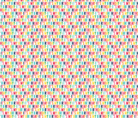 it's my birthday XSM // rainbow with navy fabric by misstiina on Spoonflower - custom fabric