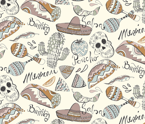 Mexican feeling fabric by juliaschumacher on Spoonflower - custom fabric