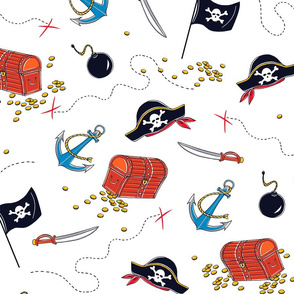 Hidden Pirate Treasure Print