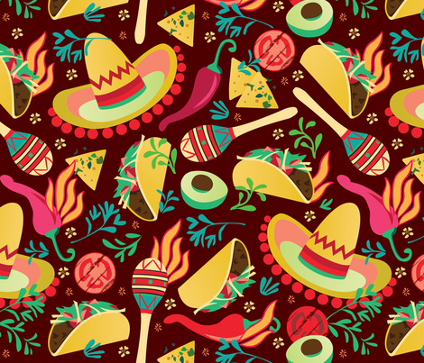 Spicy taco fabric by camcreative on Spoonflower - custom fabric