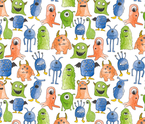 Monster Madness fabric by alexia_claire on Spoonflower - custom fabric