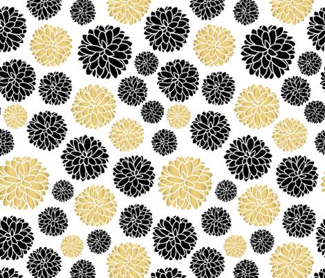 flower power - golden beige fabric by vivdesign on Spoonflower - custom fabric