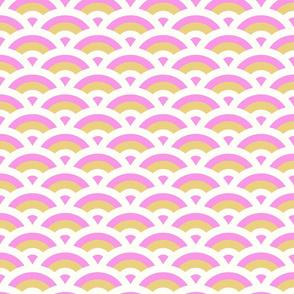 art deco scales - medium pink